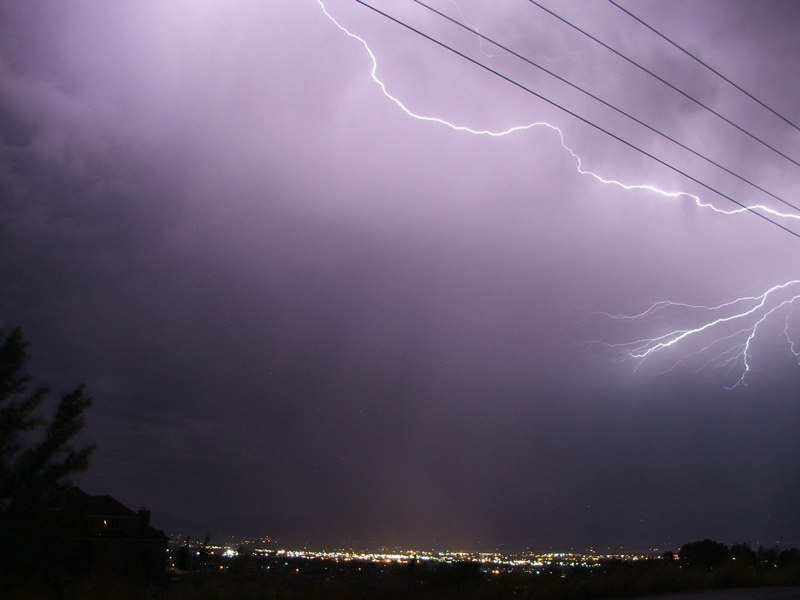 LIGHTNING AND POWER LINES